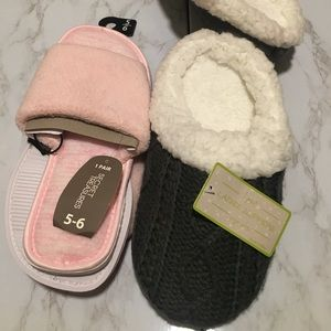 Shoes - 2 Pairs of Warm & Cozy Slippers